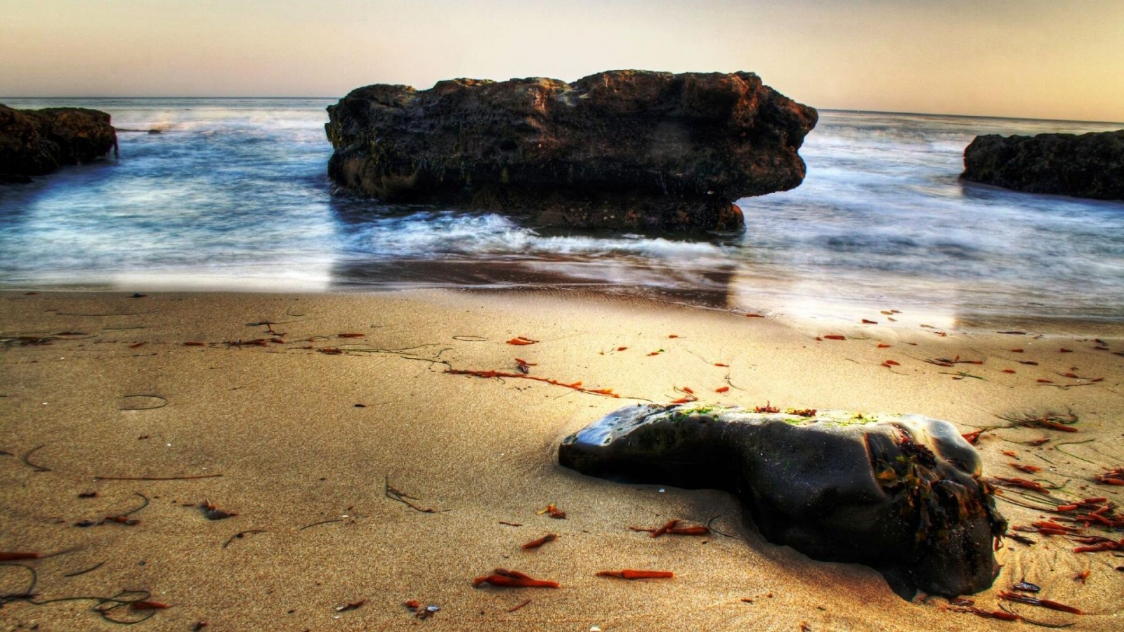 Download Rock in skull shape on beach wallpaper in Nature wallpapers 1779