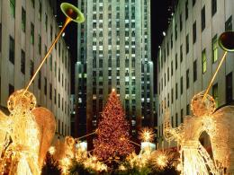 Christmas At Rockefeller Center New York City wallpaper 1895