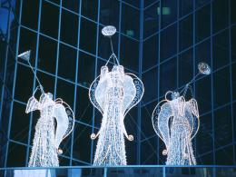 Christmas Angels in Rockefeller CenterDesktop Wallpaper 1446