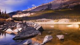 rocks on nature lake wallpaper 5391fbb337f43 jpg 710