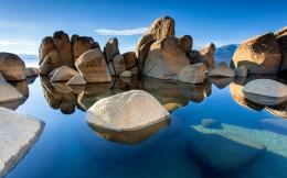 Rocks water sunshine Wallpapers Pictures Photos Images 1305
