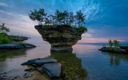 Turnip Rock Michigan Nature Lake Sunset hd wallpaper #1528154 1978