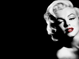 Marilyn Monroe Black And White Red Lip Hd Wallpaper | Wallpaper List 1596