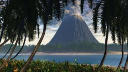 Download Volcanoes on the beach wallpaper in Nature wallpapers with 483
