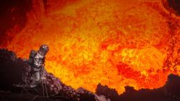 Bing Images Volcano View Volcanologist Looks Into The Marum 198