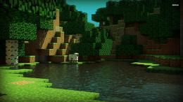 Minecraft Tower Hd Wallpaper For Desktop Background Minecraft Tower Hd 459