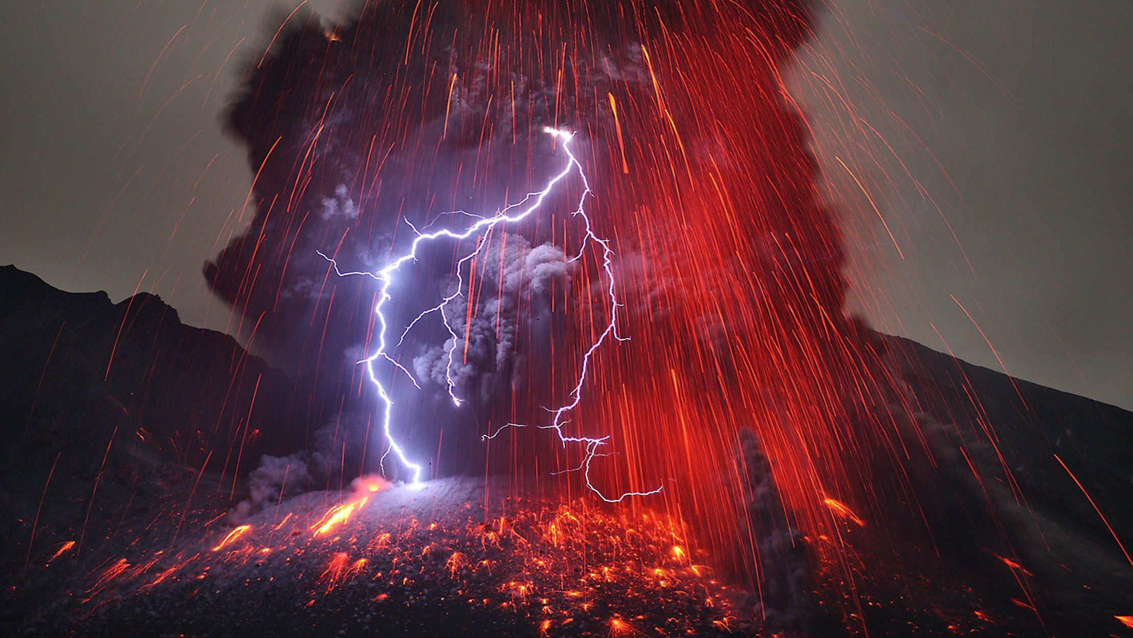 volcanic eruption with lightning and supercell photos for my wallpaper 936