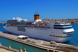liner, costa neoromantica, ship, cruise ship, dock, pier wallpaper 962