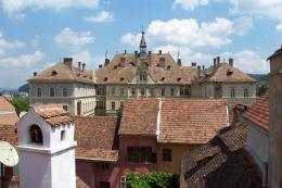 Sighisoara, Romania, City Houses roof tops 320