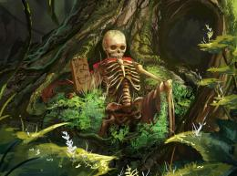 Forests Skeleton Fantasy skull skeleton skeletons wallpaper background 1226
