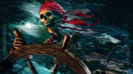 Skeleton pirate at the wheel Widescreen Wallpaper#19688 360