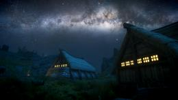 Skyrim Elder Scrolls Night Stars Galaxy Milky Way wallpaper background 1343