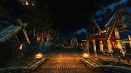 Skyrim wallpaper : Whiterun by night by Suurthol on DeviantArt 1872