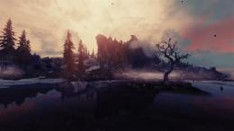 Skyrim Elder Scrolls Landscape Mountains Lake j wallpaper background 1893