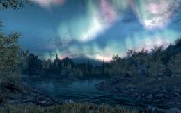 Skyrim Landscape Wallpaper Night Skyrim screenshotsoutside 207
