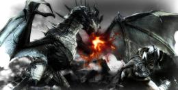 Skyrim wallpaper dragon fight by Nolan989890 on DeviantArt 518