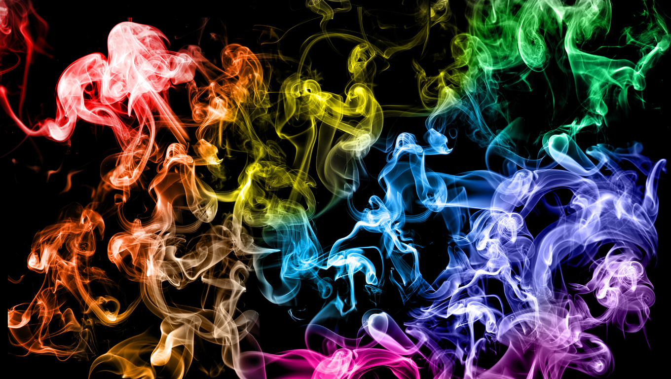 rainbow smoke wallpapers r - photo #11