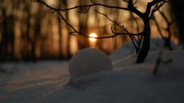 Snow Ball Melting Down Hd Wallpaper | Wallpaper List 916