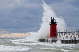 Storm Waves Lighthouse s h Lighthouse Wind Waves 1867