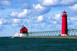 Haven Pier Lights Grand Haven Michigan | HD Walls | Find Wallpapers 458