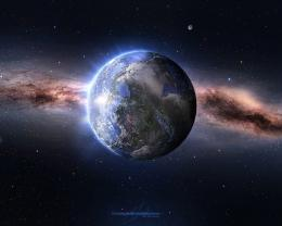 Download Earth in space wallpaper in Space wallpapers with all 1049
