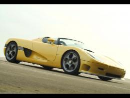 Yellow koenigsegg ccr top down convertible HD Wallpaper 946