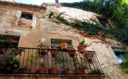 Balcony Of Spanish House Hd Wallpaper | Wallpaper List 848