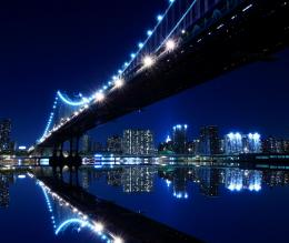 peaceful, reflection, sea, sky, skyline, skyscrapers, view, water 6093 1978
