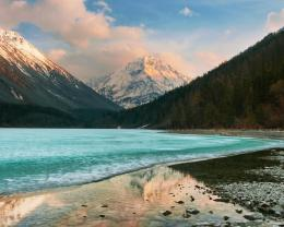 spectacular icy lake in siberia wallpaper in nature wallpapers 712