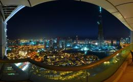Spectacular Dubai curve view from balcony wallpaper 1661