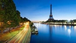 Description: The Wallpaper above is Eiffel paris evening Wallpaper in 1095
