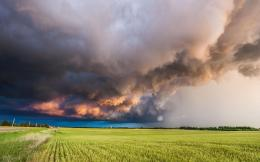 Download Stormy sky above the field wallpaper 1705