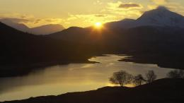 Download Sunset Garry Western Scotland Highlands Gallery wallpaper 1845