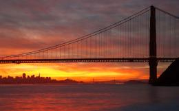 Sunset over Golden Gate Bridge wallpaper #19191 104