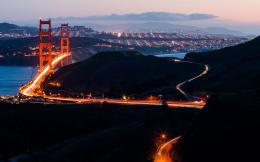 Golden Gate Bridge Bridge San Francisco Timelapse cities night sunset 582