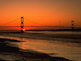 Sunset Severn Bridge AvonBridges Buildings And Landmarks Wallpaper 455