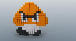super mario pixel art goombasuper mario brothers wallpapersimac 768