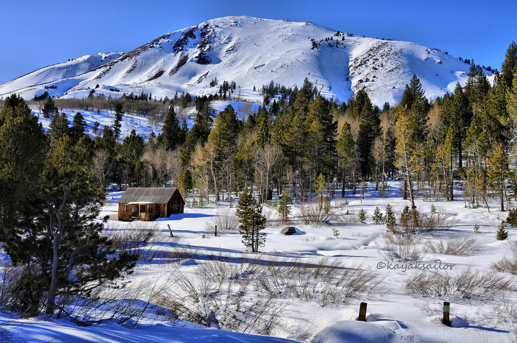 Cabin in the woods with snow by kayaksailor on DeviantArt 1926