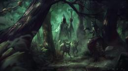 fantasy artork witch wizard sorcerer magic evil wallpaper background 944
