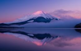 Japan Island Honshu Fuji Purple Sky HD Wallpaper 1688