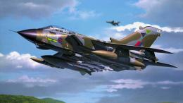 Panavia Tornado fighter bomber drawing art airplane wallpaper 583