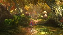 trees forest woods autumn fall boy path trail video games g wallpaper 1323