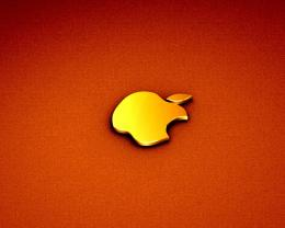 Download Orange Apple logo wallpaper in Other wallpapers with all 982