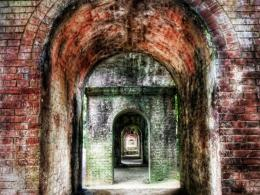 Vintage Brick Corridors Hdr Hd Wallpaper | Wallpaper List 1564