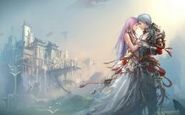 anime boy girl love castle hd wallpaper love wallpapers true 521
