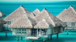 Water Bungalow Bora Bora St Regis HD desktop wallpaper : Widescreen 791