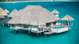 Water Bungalow Bora Bora St Regis Hotel HD desktop wallpaper 1105