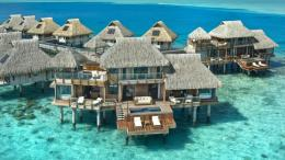 Hilton Bora Bora Hotel Water Bungalow HD desktop wallpaper 113