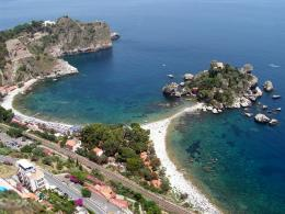 Italy Sicily Taormina Beach Beautiful Nature Beach in Taormina 2000