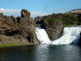 the amazing haifoss waterfall and the beautiful waterfalls in fossa 1495